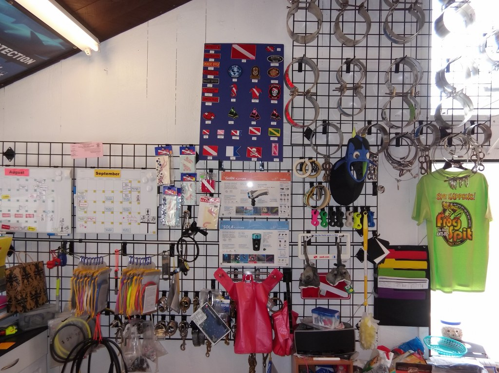 Wall of Dive Accessories